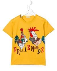 Camiseta estampada amarilla de Dolce & Gabbana