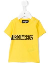 Camiseta estampada amarilla de DSQUARED2