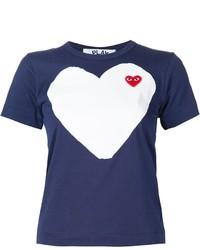 Camiseta estampada azul marino de Comme des Garcons