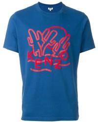 Camiseta estampada azul de Kenzo