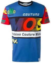 Camiseta estampada azul de Moschino