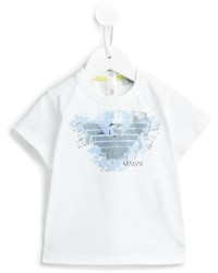 Camiseta Estampada Blanca de Armani Junior