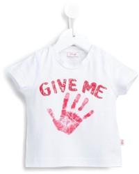 Camiseta Estampada Blanca de Il Gufo