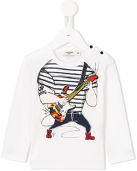 Camiseta estampada blanca de Junior Gaultier