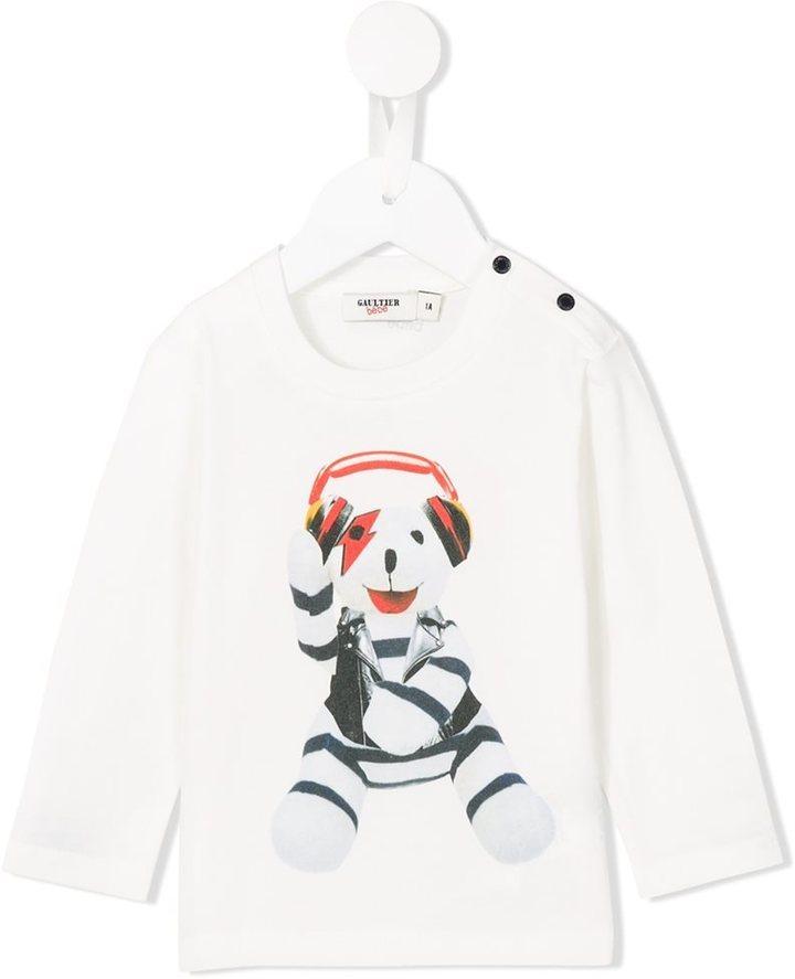 Camiseta estampada blanca de Junior Gaultier