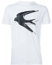 Camiseta estampada blanca de McQ by Alexander McQueen