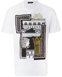 Camiseta estampada blanca de Versace