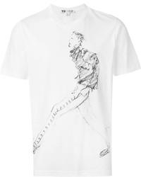 Camiseta estampada blanca de Y-3