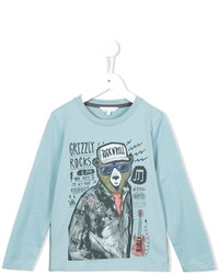 Camiseta estampada celeste de Little Marc Jacobs
