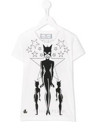 Camiseta estampada en blanco y negro de Philipp Plein