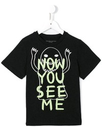 Camiseta estampada en gris oscuro de Stella McCartney