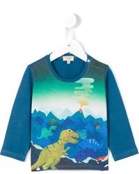 Camiseta estampada en verde azulado de Paul Smith