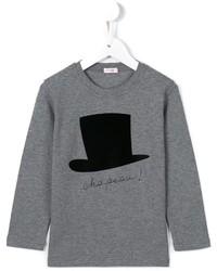 Camiseta estampada gris de Il Gufo