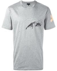 Camiseta estampada gris de Lanvin