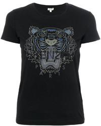 Camiseta Estampada Negra de Kenzo