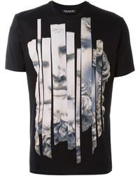 Camiseta estampada negra de Neil Barrett