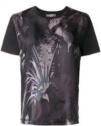 Camiseta estampada negra de Salvatore Ferragamo