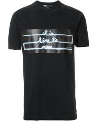 Camiseta estampada negra de Y-3