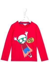 Camiseta estampada roja de Little Marc Jacobs