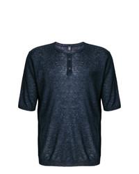 Camiseta henley azul marino de Eleventy