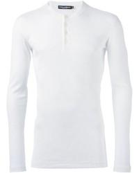 Camiseta henley blanca de Dolce & Gabbana