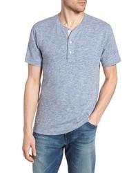 Camiseta henley celeste