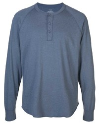 Camiseta henley de manga larga azul marino de SAVE KHAKI UNITED