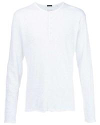 Camiseta henley de manga larga blanca de ATM Anthony Thomas Melillo