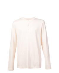 Camiseta henley de manga larga en beige