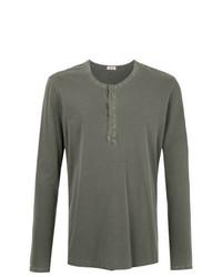 Camiseta henley de manga larga en gris oscuro de OSKLEN