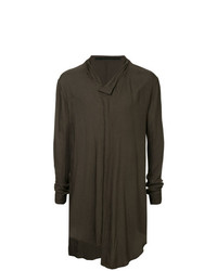 Camiseta henley de manga larga en marrón oscuro de Julius