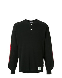 Camiseta henley de manga larga negra de Hysteric Glamour