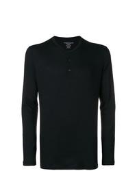 Camiseta henley de manga larga negra de Majestic Filatures