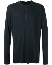 Camiseta henley de manga larga negra de OSKLEN