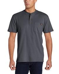 Camiseta henley en gris oscuro de Dickies