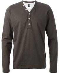 Camiseta henley en gris oscuro de Eleventy