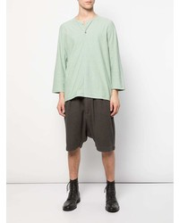 Camiseta henley en verde menta de Individual Sentiments