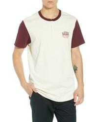 Camiseta henley estampada blanca
