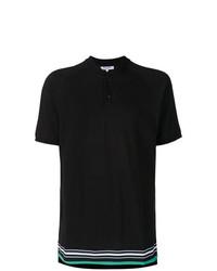 Camiseta henley estampada negra de Les Benjamins