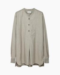 Camiseta henley gris