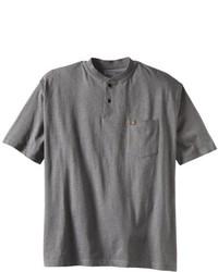 Camiseta Henley Gris Oscuro