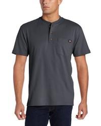Camiseta Henley Gris Oscuro de Dickies