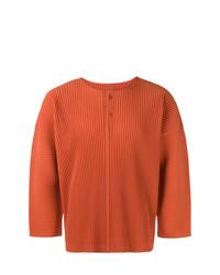 Camiseta henley naranja de Homme Plissé Issey Miyake