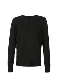 Camiseta henley negra de 321