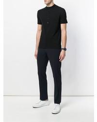 Camiseta henley negra de Paolo Pecora
