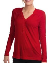 Camiseta henley roja