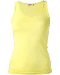 Camiseta sin manga amarilla