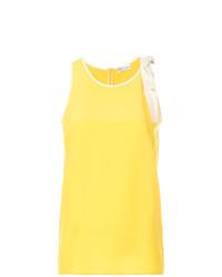 Camiseta sin manga amarilla de RED Valentino
