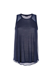 Camiseta sin manga azul marino de Tufi Duek