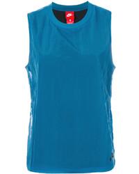 Camiseta sin manga azul de Nike
